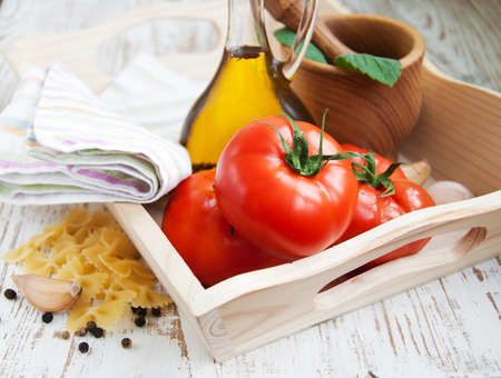 home cooked: Various ingredients for a home cooked italian meal