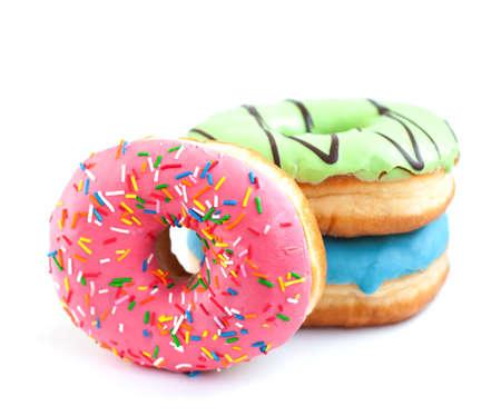 Donuts auf einem weißen