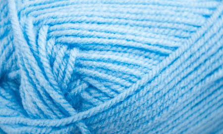 clew: Clew of blue  Woolen Yarn - closeup