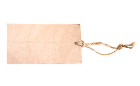 Old Paper Tags on a white background photo