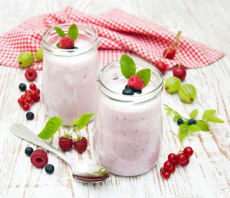 Joghurt Mit Obst im Glas Frischem Obst Joghurt Mit