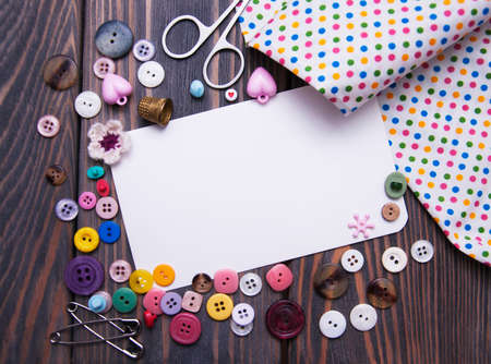 sewing item: Accessory of the tailor - sewing background
