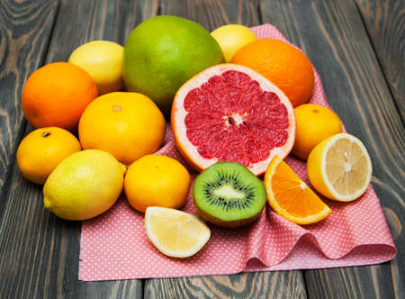 Variation of Citrus Fruits  on a table
