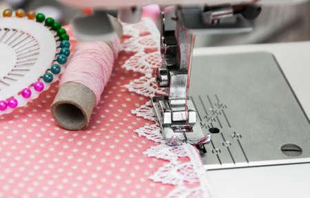 hem: Close up of sewing machine - Sewing Machine Detail