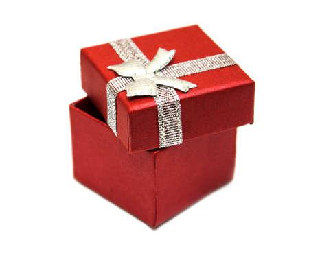 Geschenk-Box-Paket auf einem weißen Hintergrund Lizenzfreie Bilder