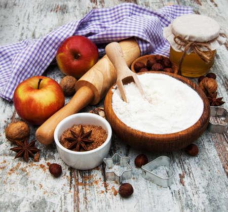 Zutaten für Apfelkuchen