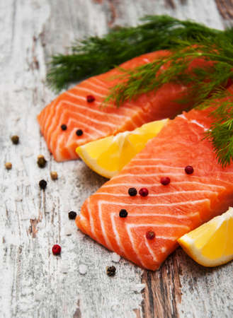 portions: portions of fresh salmon fillet