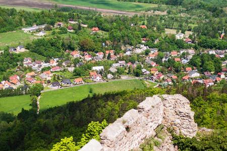 Panoramic view from the castle  Chojnik Poland - Karkonoski National Park