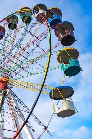 ferriswheel: Ferris wheel joy sky clouds amusement Park