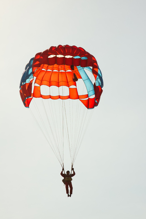Bright parachute against backlight.