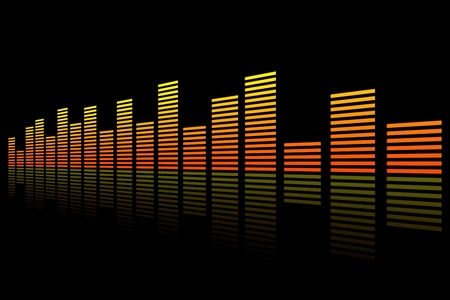 Equalizer in black background
