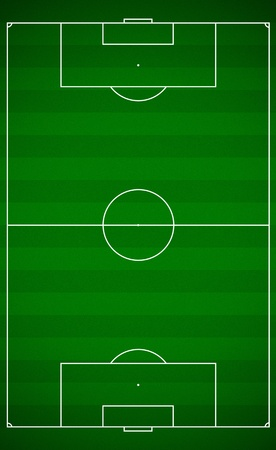 penalty flag: Top view of a soccer field