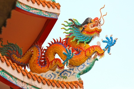 Chinese style dragon statue  Stock Photo - 10454771