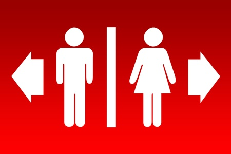 Male and female sign  Stock Photo