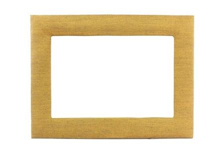 Frame silk Isolated On White Stock Photo
