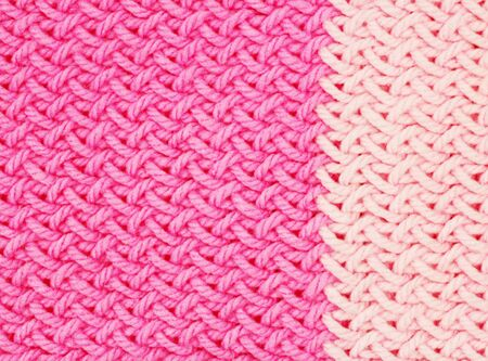 pink knitted texture Stock Photo