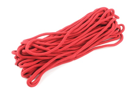 Red Rope Isolated On White Background