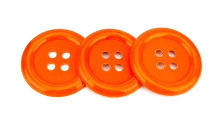 Orange Buttons On White Background