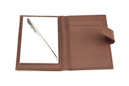 Leather Business NotePads On White Background