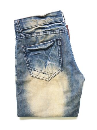 Jeans On White Background  Stock Photo