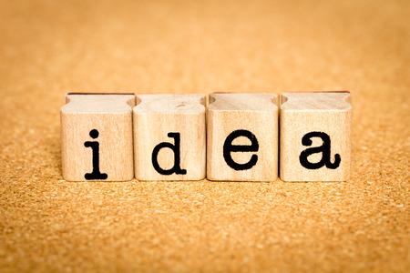 Idea - Alphabet Stamp Concepts Stock Photo
