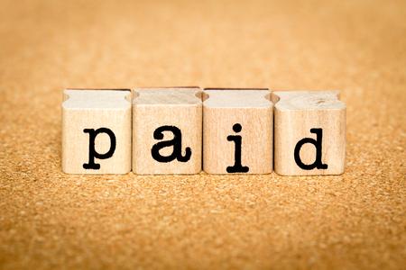 Paid - Alphabet Stamp Concepts