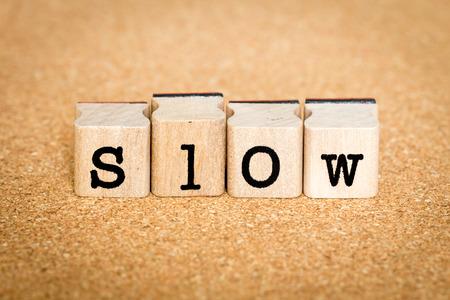 Slow - Alphabet Stamp Concepts Stock Photo