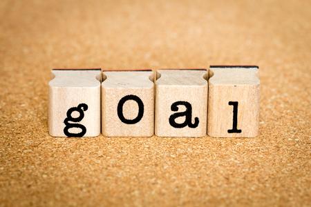 Goal - Alphabet Stamp Concepts Stock Photo