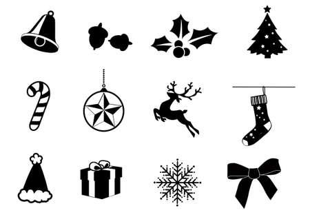 Individually grouped christmas icons