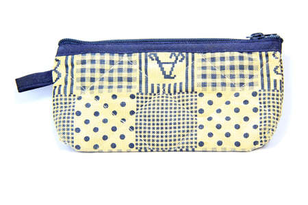 pencil case: fabric Pencil case on a white background