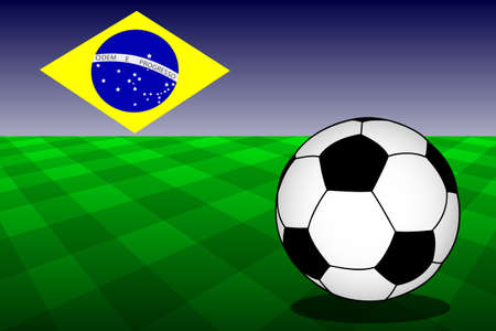 World Cup will be held in Brazil next year  It Vector