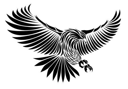 the air attack: eagle vector Illustration