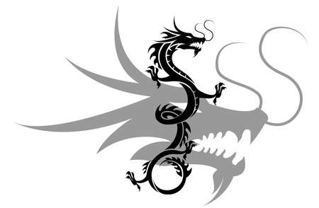 black and white dragon: dragon tattoo