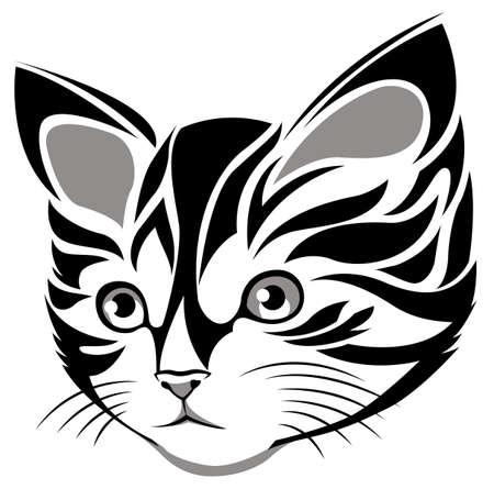 a cute cat vector in eps10 format Vector