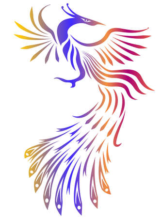 Decorative bird vector Vector