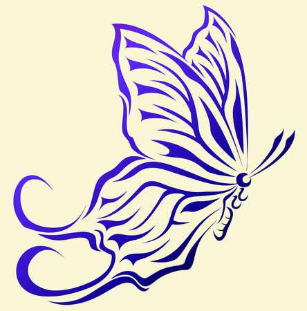 Fancy Butterfly vector in eps10 Vector