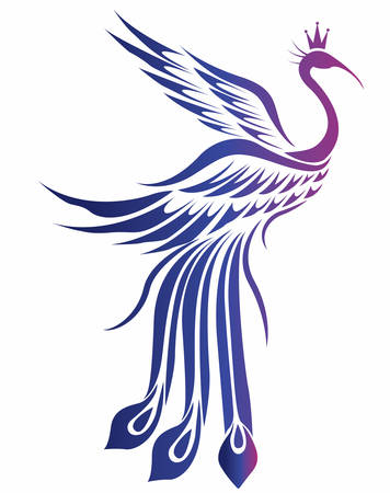 A decorative bird vector in eps10 format