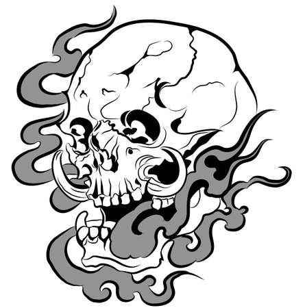 Vector skull artwork easy to use in eps10 Vector