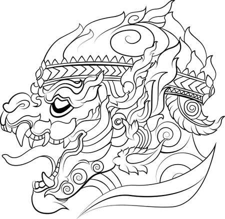 ramayana: new art of Thai style that usually used for decorations or others such as tattoo