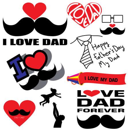 father: Happy Father symbols Illustration