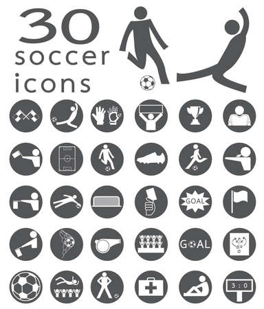 corner kick: Soccer Icons set Illustration