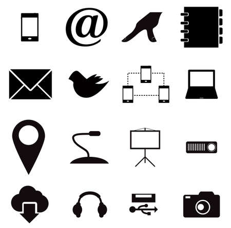 Media and communication icons vector in eps10 Vector