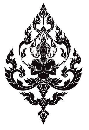 Thai arts angel Illustration