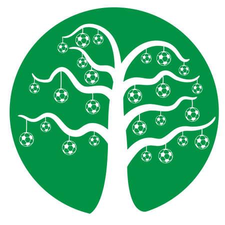 soccer football tree  Vector