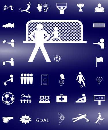 corner kick: soccer football icon set