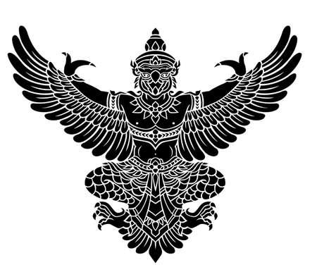 indonesia culture: Garuda, Kings protective  bird  vector