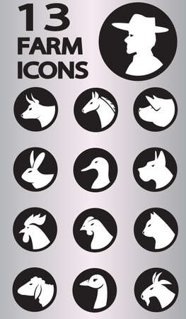 farm icon collection.  Vector