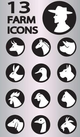 farm icon collection.  Vector