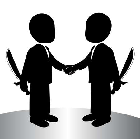 image of a back stabbing , betray Illustration