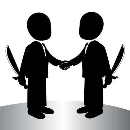 image of a back stabbing , betray Illustration